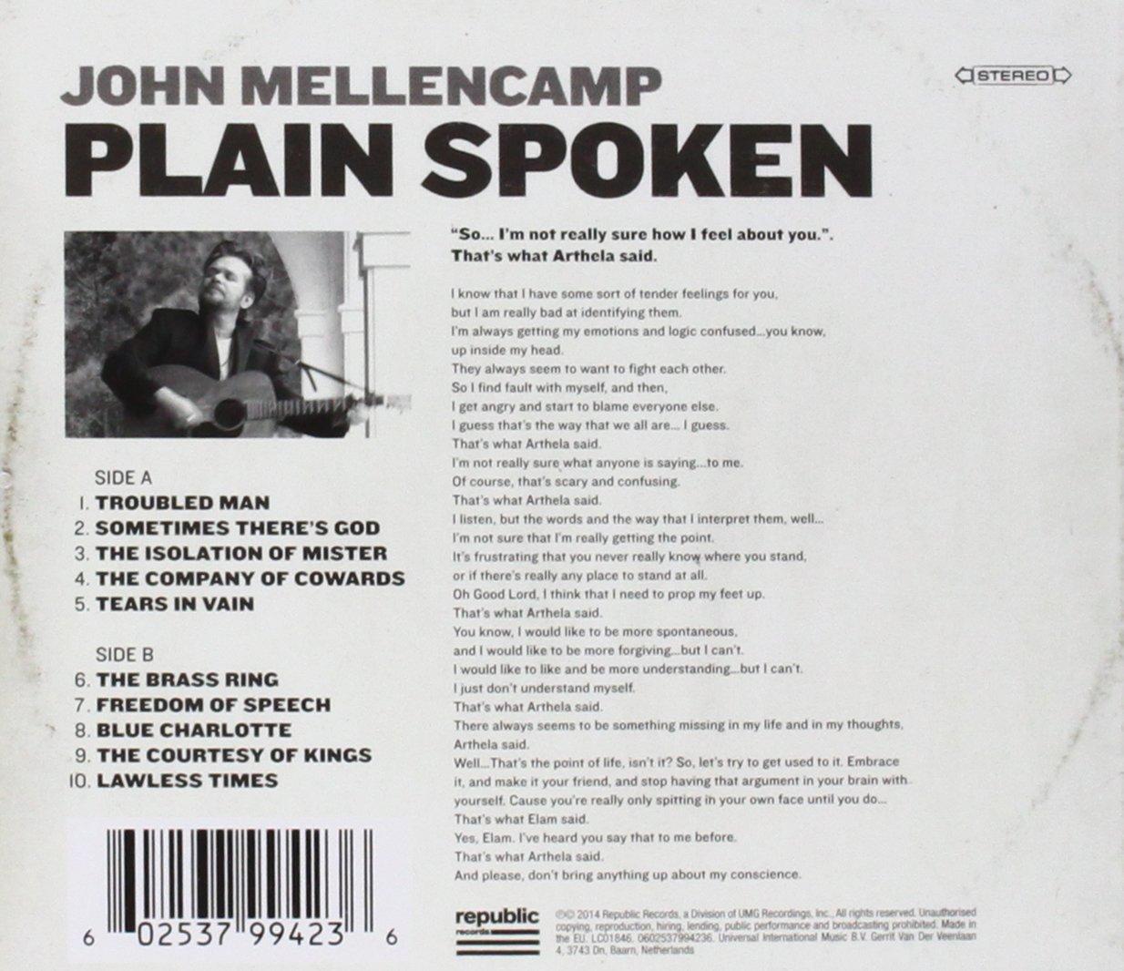 John Mellencamp Plain Spoken