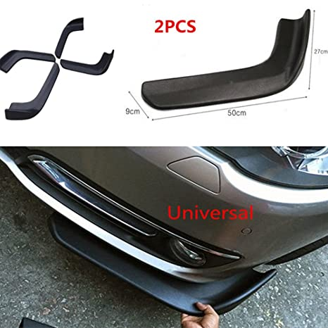 Amazon com: Universal Fit Car Front Bumper Spoiler Lip-Car