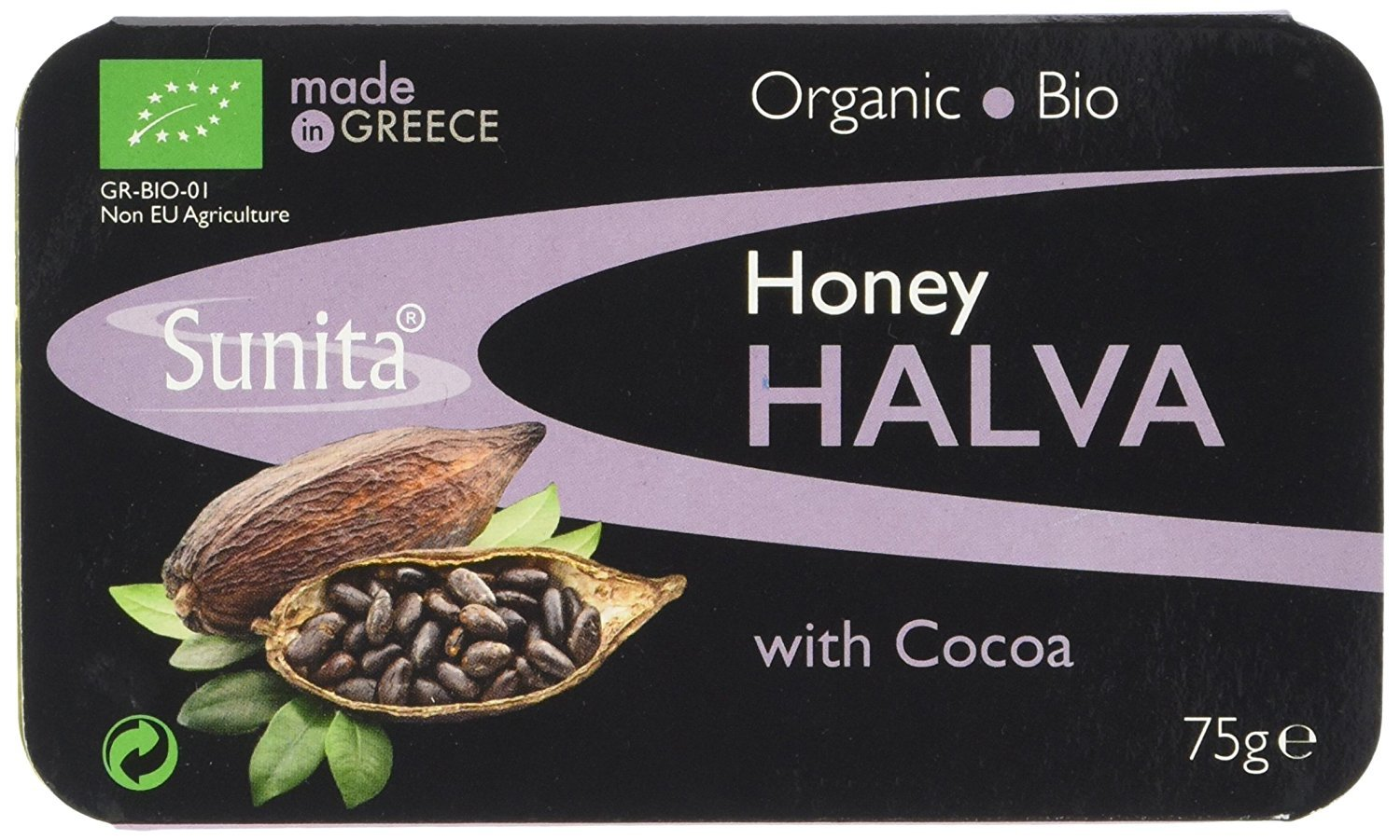 (12 PACK) - Sunita - Org Dark Chocolate Halva | 75g | 12 PACK BUNDLE by Sunita Enterprises