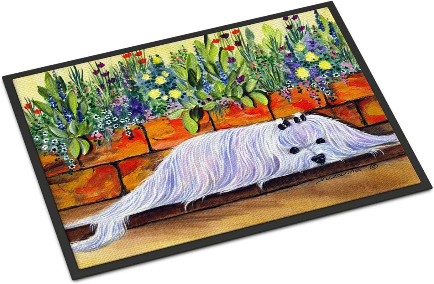 Caroline s Treasures SS8248MAT Maltese Indoor Outdoor Mat 18×27 Doormat, 18H X 27W, Multicolor