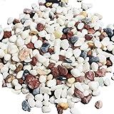 Tellm - Pietrisco marmo bianco e colorato per decorazione dei fondali degli acquari, 400 g
