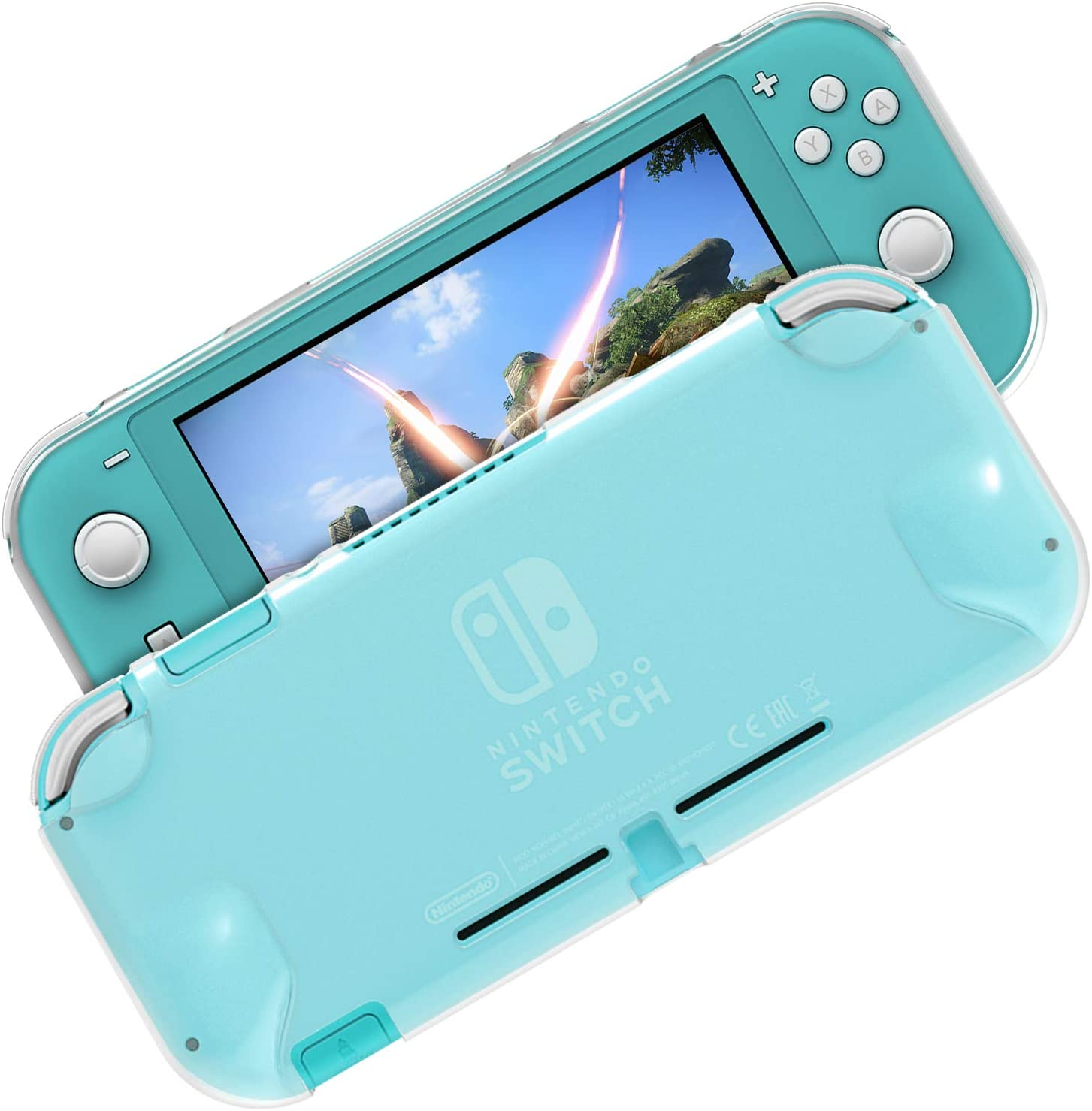 TPU Protector Case for Nintendo Switch Lite, Foggy Clear Soft Anti-Scratches Protective Shell Cover Bumper Back Silicone Case for 2019 Nintendo Switch Lite (Translucent)