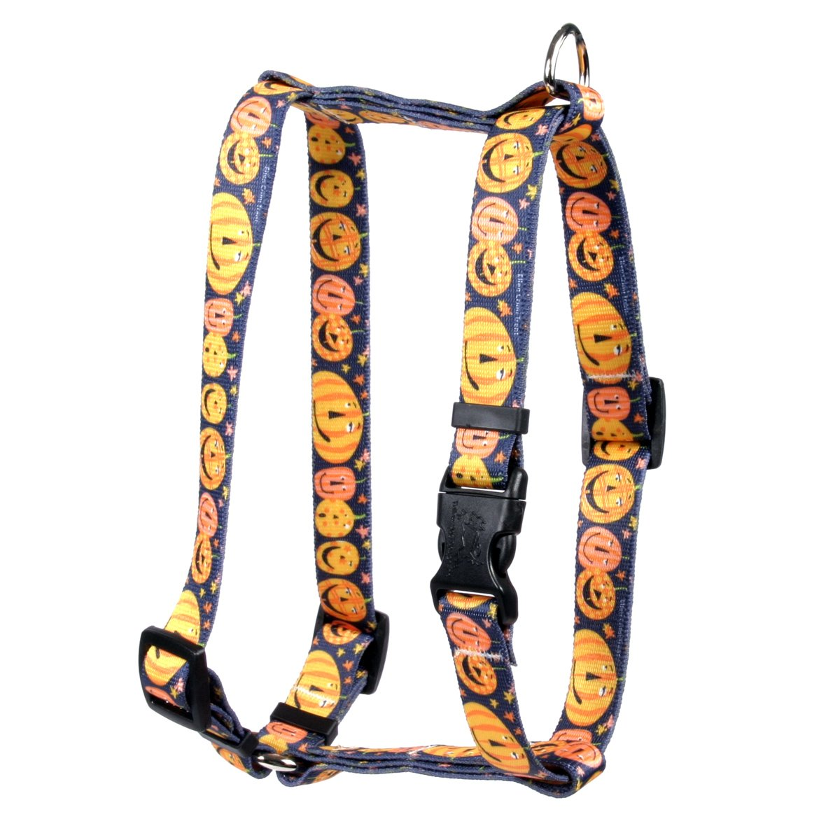 Yellow Dog Design Pumpkin Party Roman Style H Dog Harness, Large-1'' Wide and fits Chest of 20 to 28'' by Yellow Dog Design