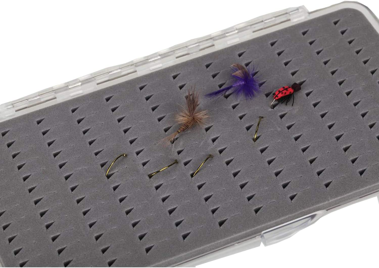 Plastic Fly Box Super Slim Magnetic Components Transparent Fly Fishing Box