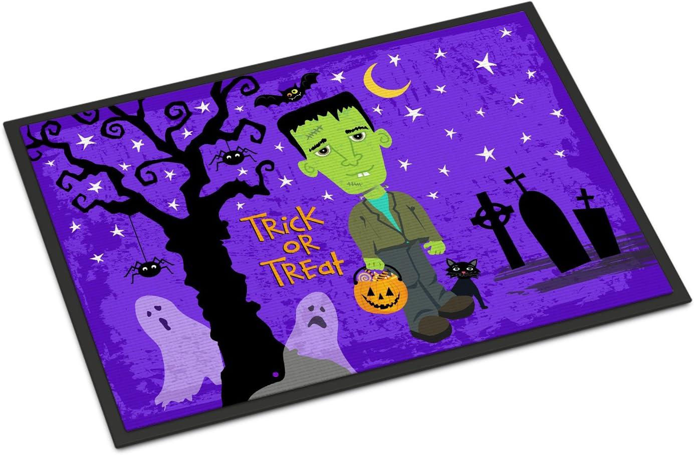 Caroline s Treasures VHA3021JMAT Halloween Frankie Frankenstein Indoor or Outdoor Mat 24×36, 24H X 36W, Multicolor