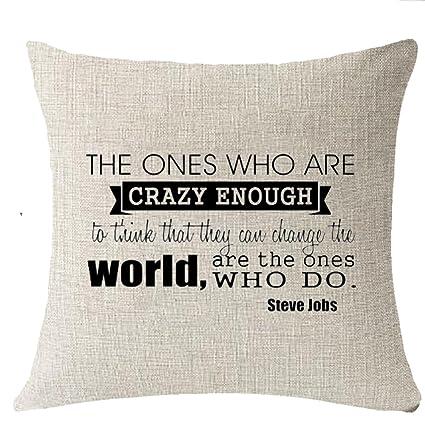 Animar Palabras cambiar el mundo hacer Steve Job manta funda ...