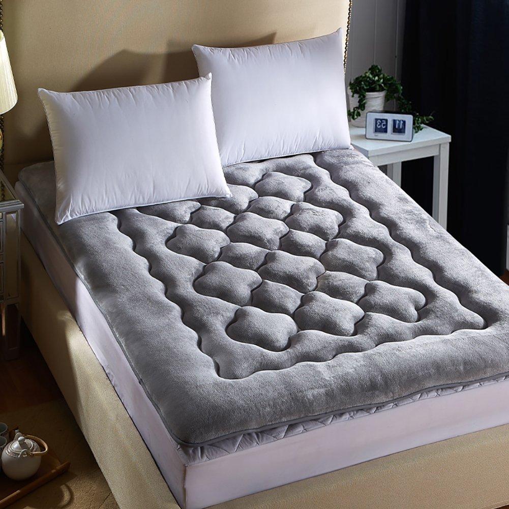 DULPLAY スリップ 厚く マットレス パッド,畳 快適 式 学生 寮 パッドを睡眠 ベッド マットレス マットマット -A 180 * 200cm B07J66ZNLC A 180*200cm