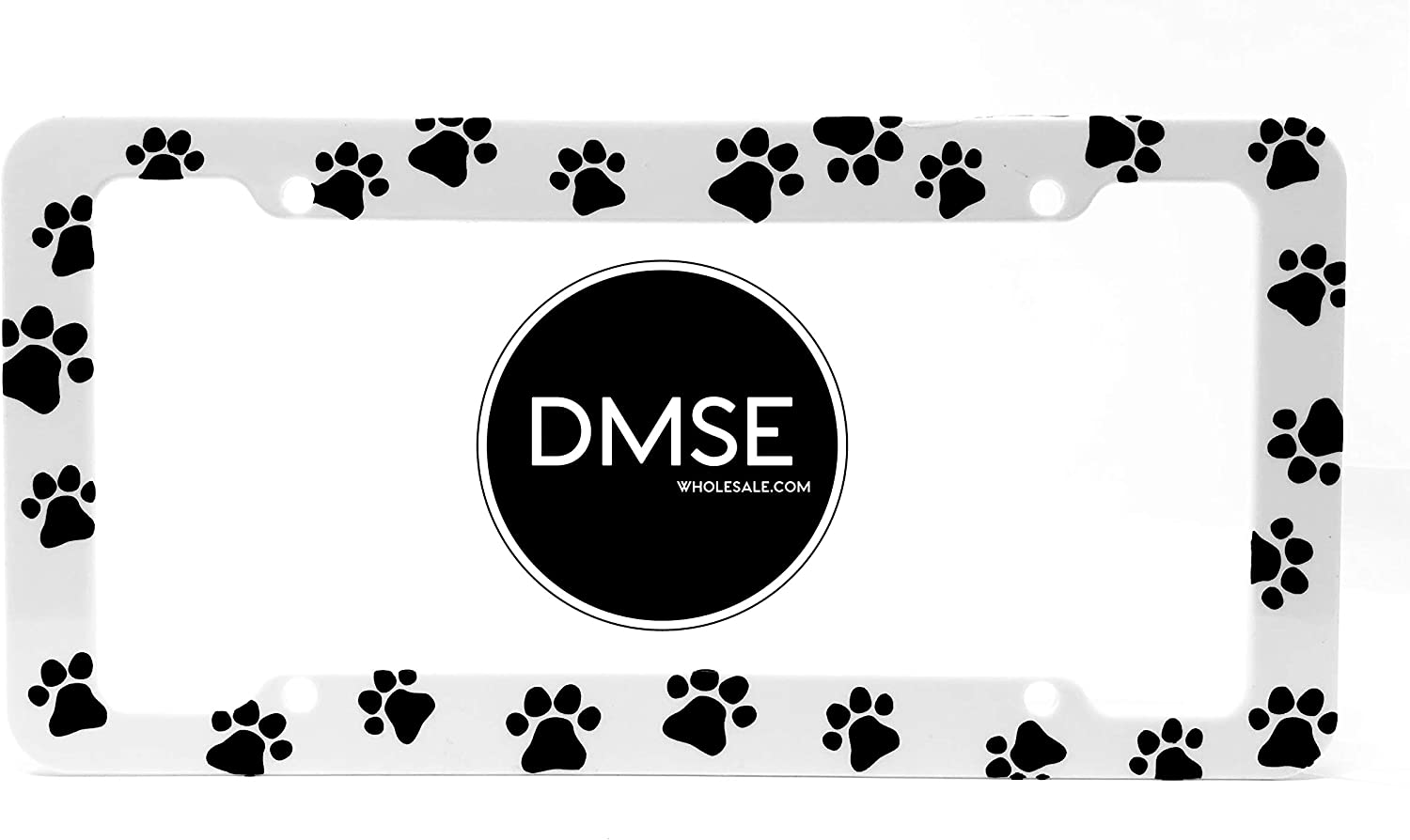 Cow DMSE Plastic License Plate Frame Cover Holder Cool Decorative Design For Any Vehicle Car or Truck