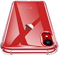 CANSHN Funda iPhone XR, Carcasa Protectora Antigolpes Transparente con Parachoques de TPU Suave Flexible [Slim Delgada…