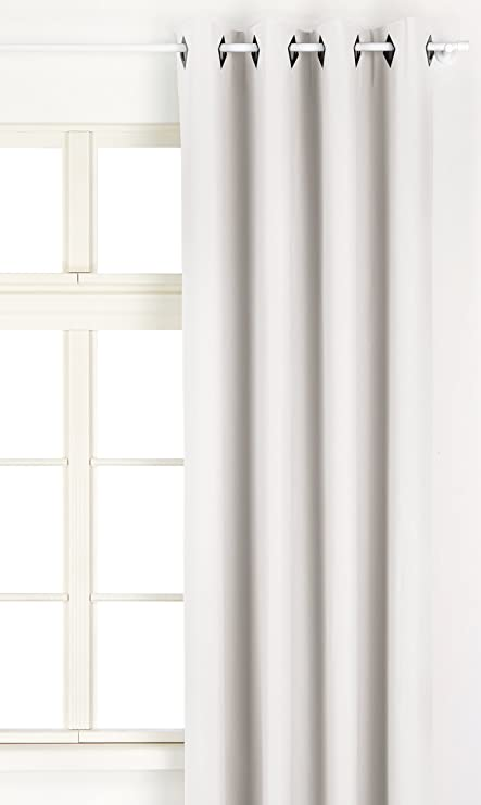 Linder 0523 10 377FC Weston Faux Leather Curtains With Eyelets White 135