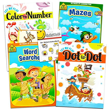 School Zone Connect the Dots and Mazes Book Set