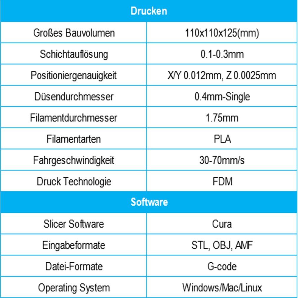 DEMU Easier Impresora 3D mini, para escritorio, filamento PLA ...