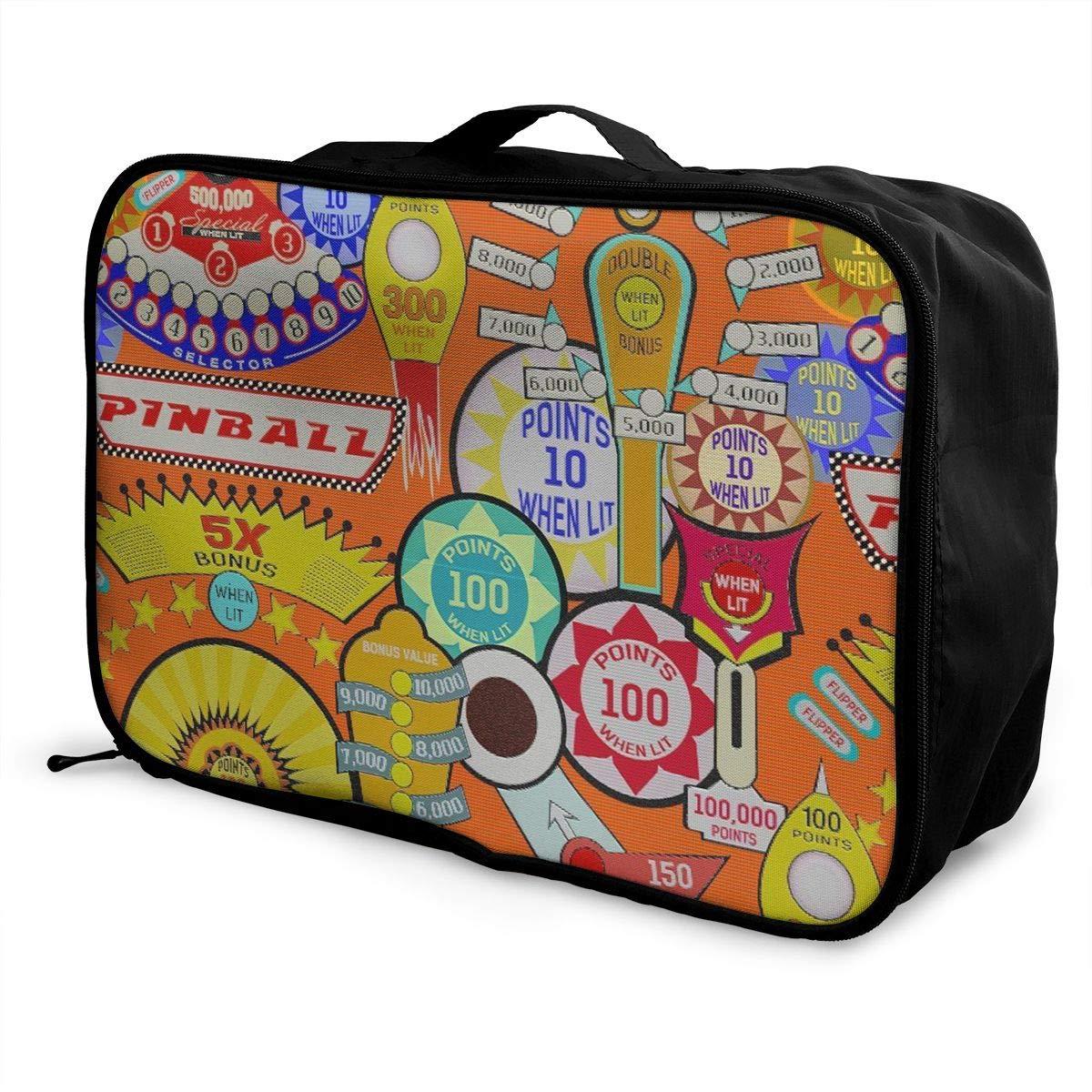 9fde6abc1ef5 Travel Duffle Bag Weekend Bags In Trolley Handle - Cartoon Pinball Orange  Luggage Hanging Bag Water Repellent Nylon Luggage Duffel Bag Tote Luggage  Bag For ...