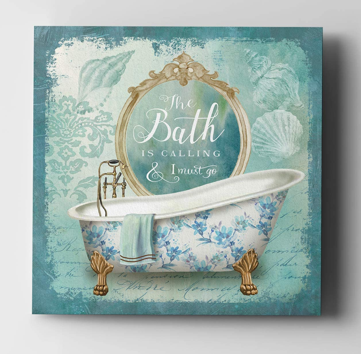 WEXFORD HOME Mirror Bath II-Gallery Wrapped Canvas Art Print, 40×40