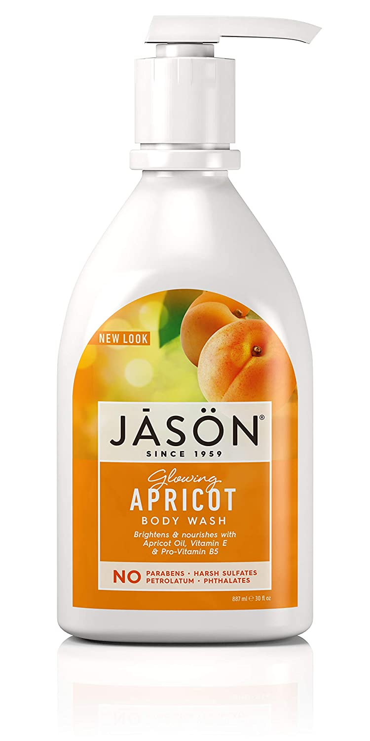 Jason Natural Body Wash and Shower Gel, Glowing Apricot.30 oz