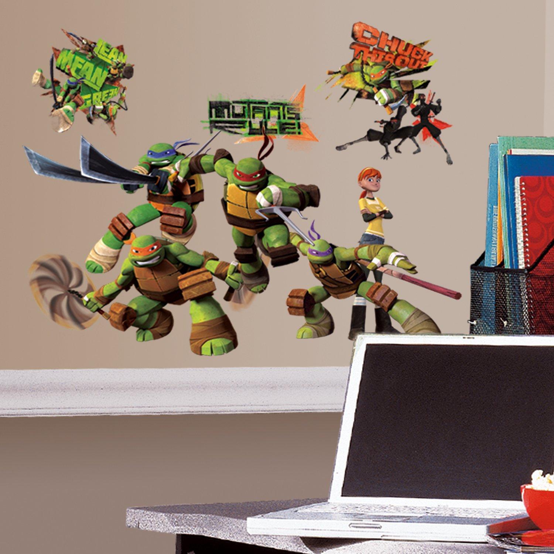 Teenage mutant ninja turtles leo peel and stick tmnt wall decals roommates rmk2246scs teenage mutant ninja turtles peel and stick wall decals amipublicfo Gallery