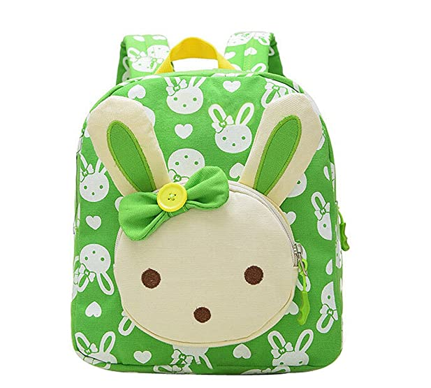 Amazon.com | Moolecole Cute Bunny Kids Backpack Canvas Preschool ...