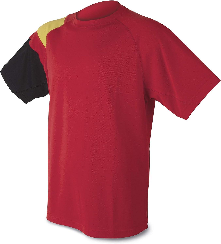 GARGOLA.ES OPERADORES DIGITALES Camiseta Bandera D&F-Camiseta Roja con los Colores de España- Tejido técnico del Propio Material: Amazon.es: Ropa y accesorios
