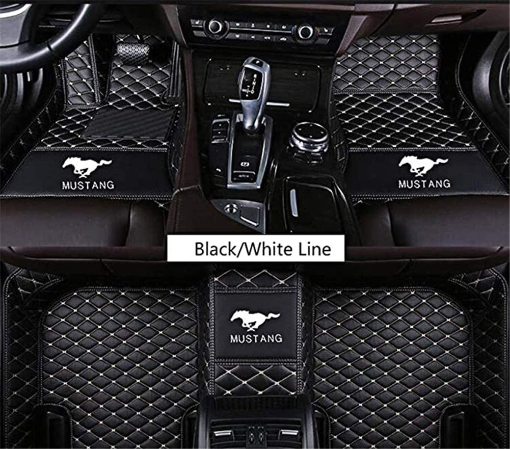 Fit for Ford Mustang 2010 2011 2012 2013 2014 2015 2016 2017 2018 2019 2020 All Weather Car-Styling Custom Luxury Leather Waterproof Floor Mats Logo