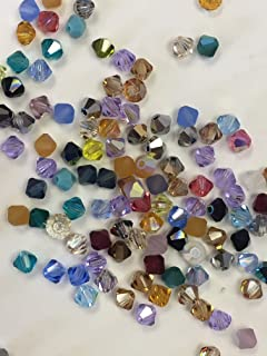 cc0f21044f09 144 pcs 4mm Mix Color Genuine Swarovski crystal 5301   5328 XILION Loose Bicone  Beads from
