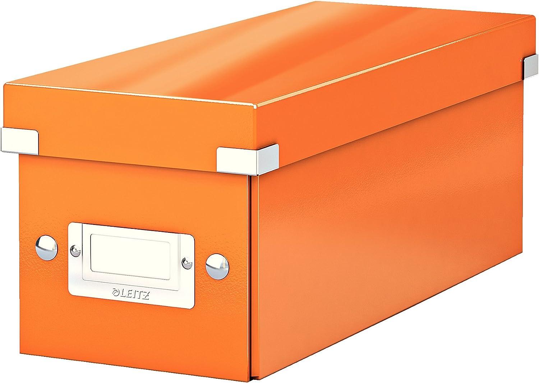 Leitz Caja para guardar CD, Naranja, Click and Store, 60410044: Amazon.es: Oficina y papelería