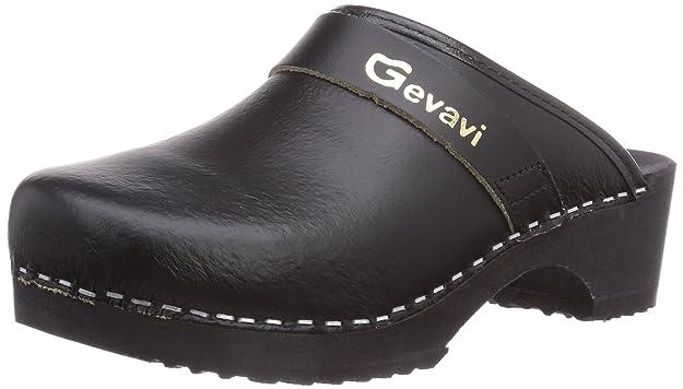 Gevavi 9200 Muil Zwart 36 - Zuecos Unisex, Color Schwarz (Schwarz(zwart) 00), Talla 36