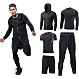 Men Workout Clothes Outfit Fitness Apparel Gym Outdoor Running Compression Pants Shirt Top Long Sleeve Jacket 4PCS or…