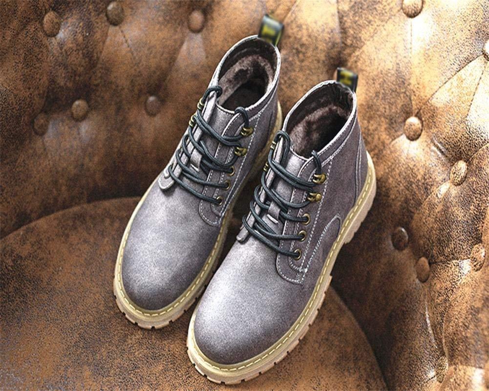 Oudan Herbst und Winter Herren Wasserdichte Spitze warme warme warme Stiefeletten warmen Plüsch (Farbe   46, Größe   Braun) 30a8e5