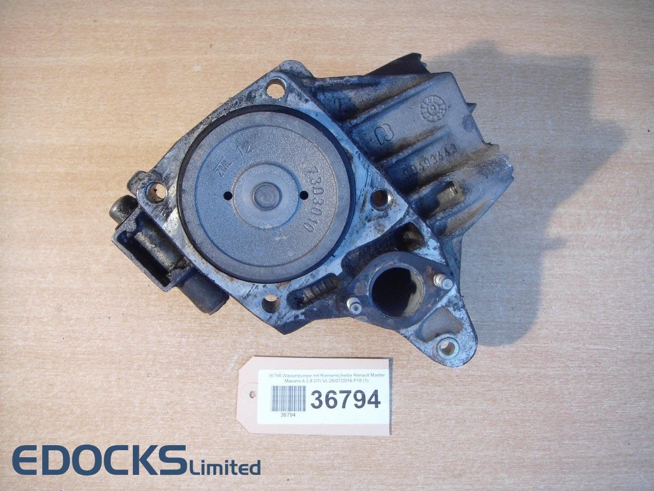 Bomba de agua con Polea (Renault Master MOVANO a 2,8 DTI Opel: Amazon.es: Coche y moto