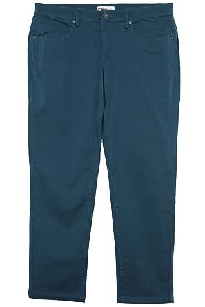 sheego Hose Cargohose Pants Die Schmale Damen Stretch Zip Kurzgröße Plusgröße