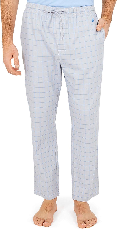Nautica Mens Soft Woven 100  Cotton Elastic Waistband Sleep Pajama Pant