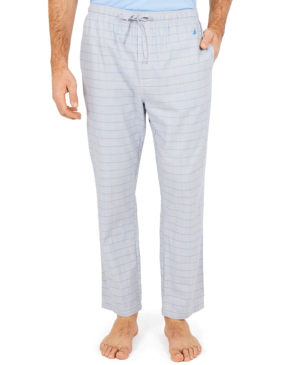 Nautica Mens Soft Woven 100  Cotton Elastic Waistband Sleep Pajama Pant