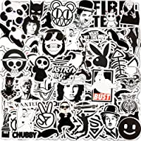 Jackify Stickers Pack [55 stks], Zwart Wit Vinyl Graffiti Sticker voor Kinderen Tieners Volwassenen, Waterdichte…