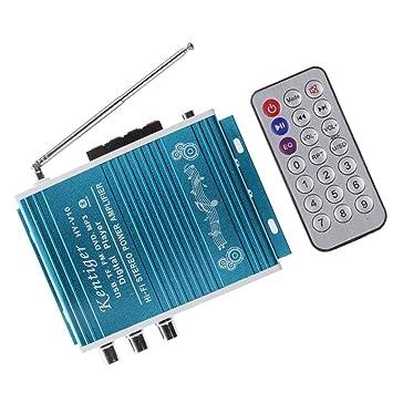 2 Canales Alta Fidelidad Bluetooth Refuerzo Amplificador ...