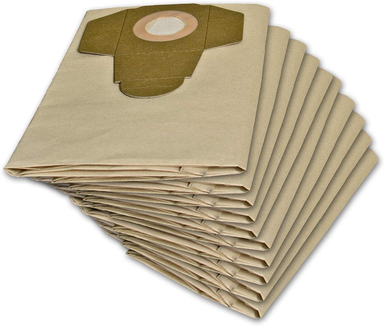 10 bolsas de aspiradora adecuadas para Parkside PNTS 1400, 1500 A1 ...