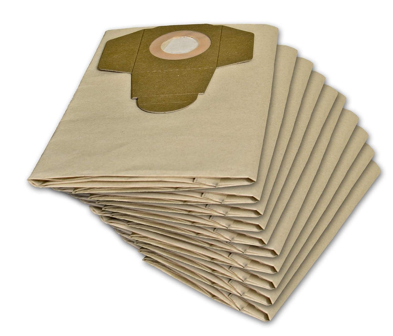 10 bolsas de aspiradora para Parkside 1300 D3 1300 A1, 1300 B2, PNTS 1400, 1400 B2, C1, D1, 1500, PNTS 30/6