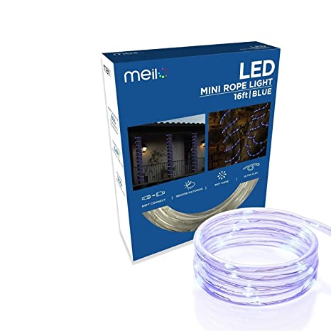 Amazon meilo 16 ft true tech led mini rope light with 360 true tech led mini rope light with 360 degree directional aloadofball