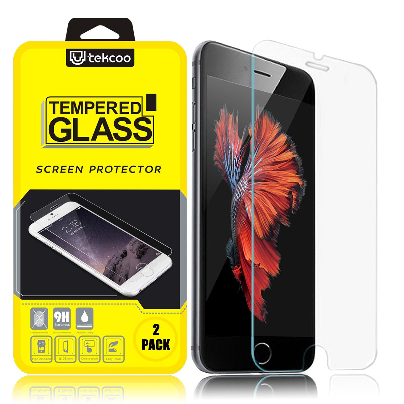 Iphone 6S Screen Protector 2-Pack Tekcoo Iphone 6 / Iphone 6S (4.7 Inch) Prem.. 14
