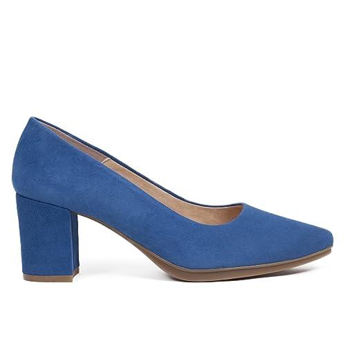 estiva 2018Taglia 35 Su 6cm Salon Blue Shoe WomanCollezione Thick Tacᄄᆴn 2HeEDYWI9