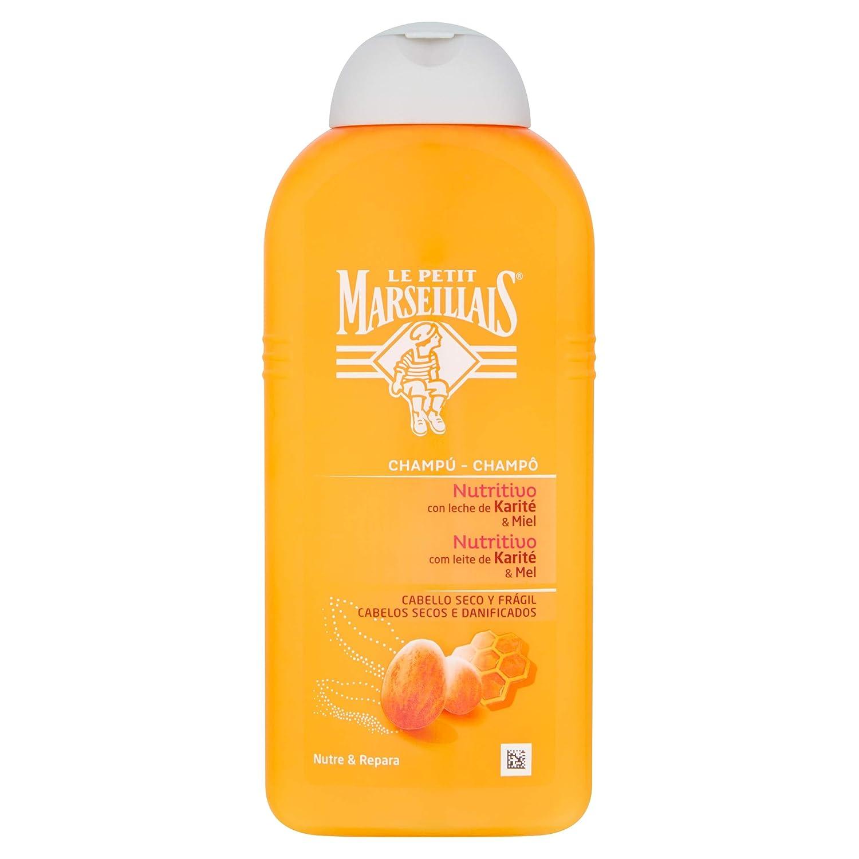 Le Petit Marseillais – Champú nutritivo con leche de karité y miel – Apto para cabellos, secos y débiles – Nutre y repara – 400 ml