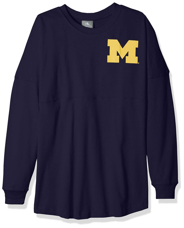 Sports Navy NCAA Michigan Wolverines Womens NCAA Womens Long Sleeve Mascot Style Teeknights Apparel NCAA Womens Long Sleeve Mascot Style Tee X-Large