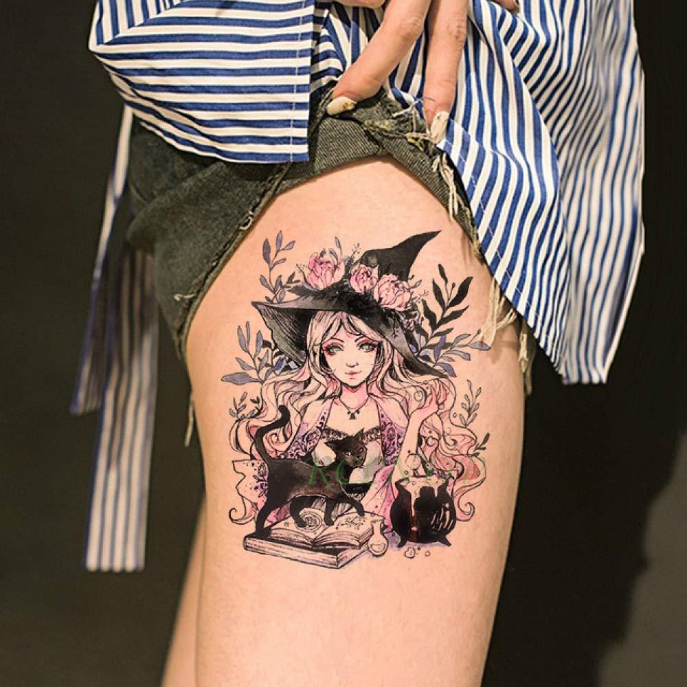 tzxdbh 5Pcs-Etiqueta engomada del Tatuaje Impermeable Flor de Rosa ...