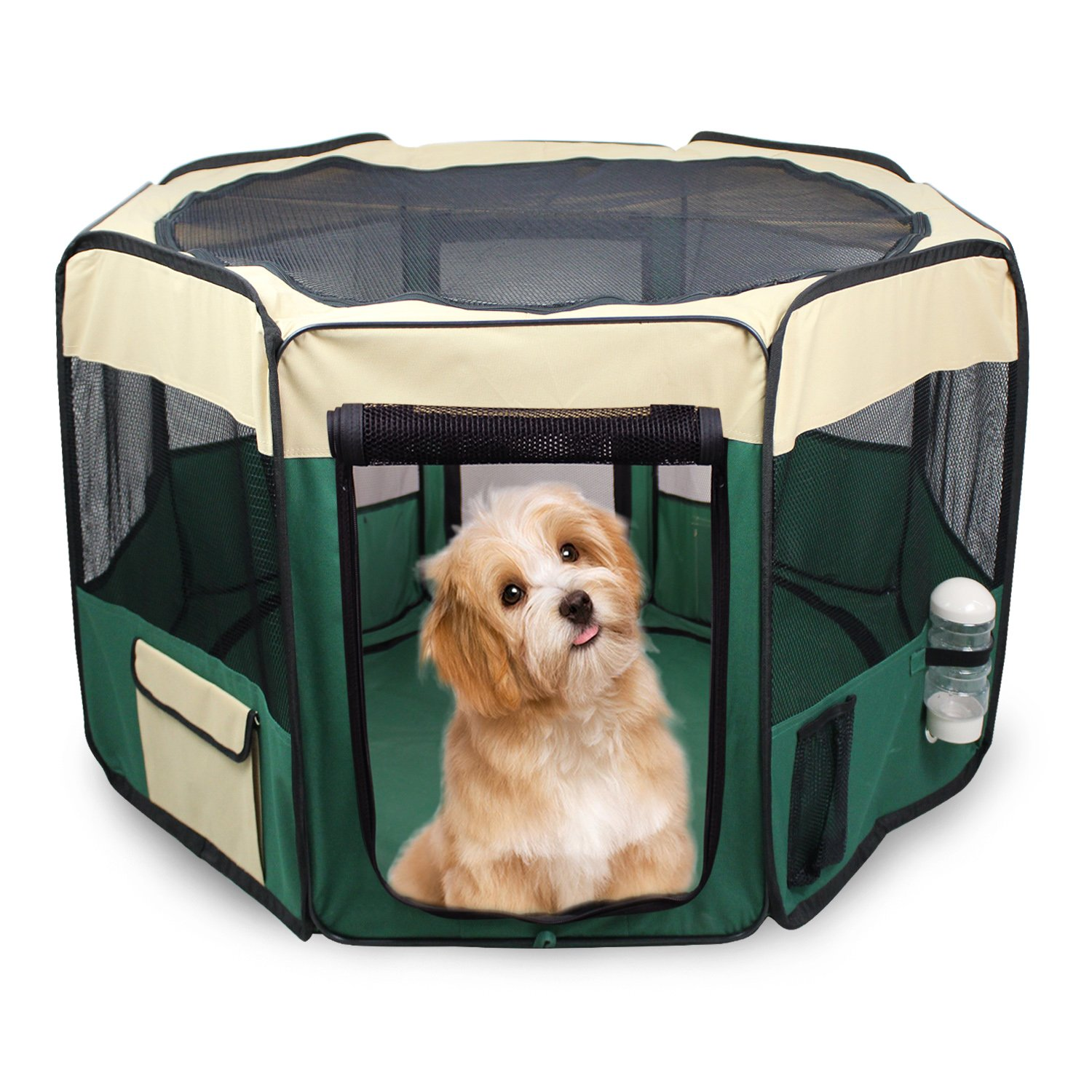 """Jespet Portable Soft Dog Exercise Pen Kennel with Carry 45/"""" Pet Dog Playpens"""