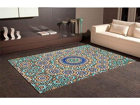 Tappeto carpette in pvc motivi imitazione mosaico ceramica zellige