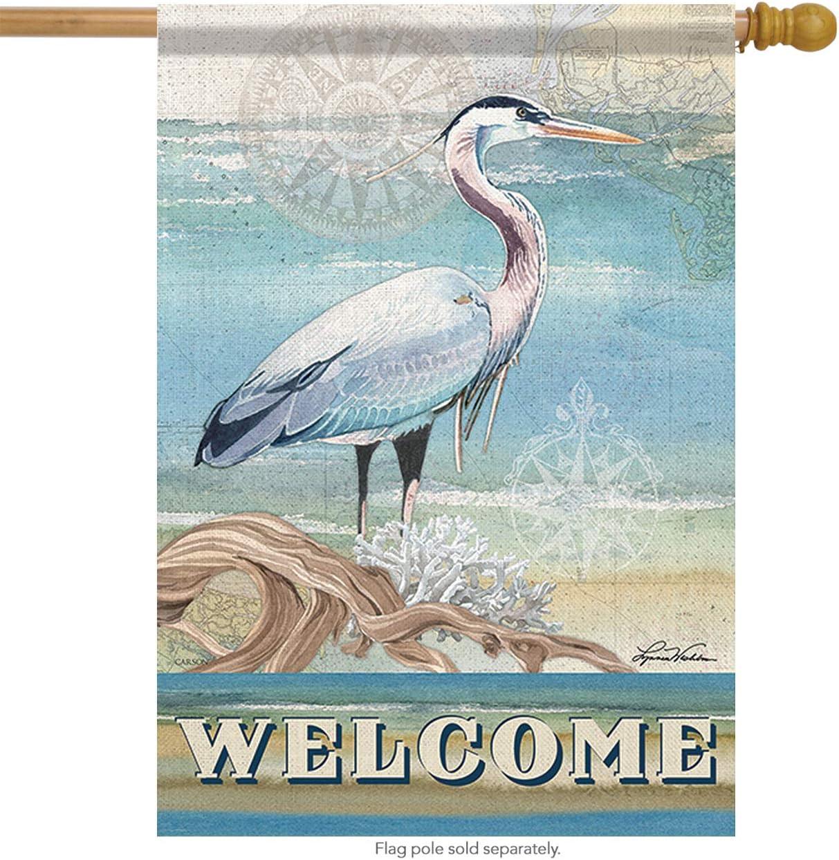 "Welcome to the Beach Summer House Flag Nautical Surf Sand Lighthouse 28/"" x 40/"""