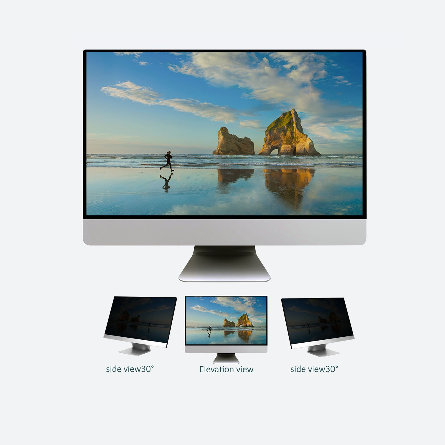 22 Inch Privacy Screen Filter for Widescreen Monitor ( 16:10 Aspect ratio) by J-Dream (Image #3)