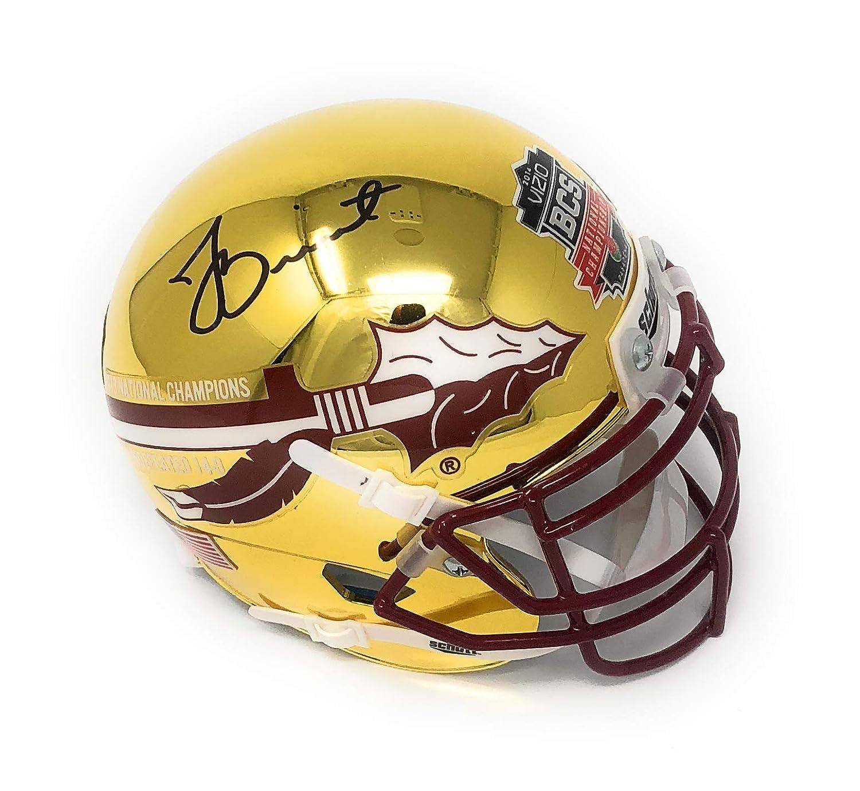 Jameis Winston Florida State Seminoles Signed Autograph Rare CHROME BCS Champs Mini Helmet Winston GTSM Player Hologram Certified