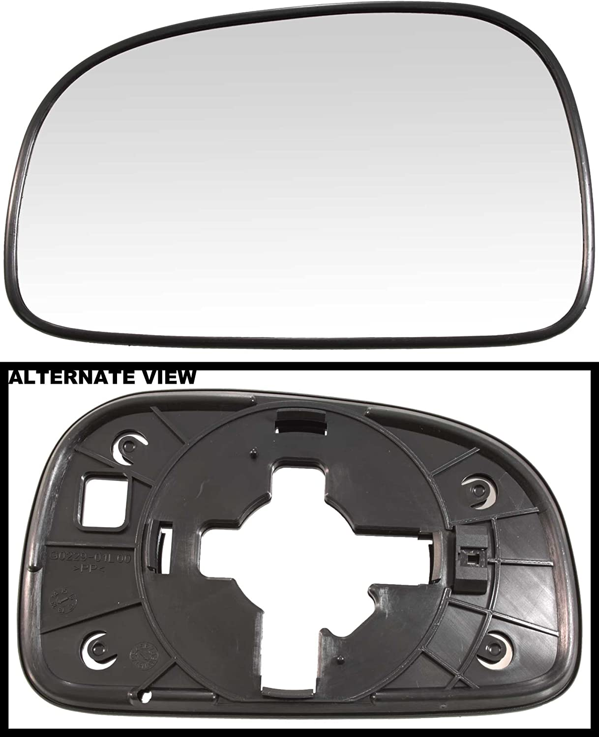 2005-2006 Hyundai Sante Fe Models Without Heat Driver-Side Replaces 8761126000 APDTY 67765 Replacement Left Side View Mirror Glass Fits