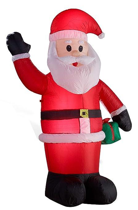 Posizione Babbo Natale.Babbo Natale Gonfiabile Illuminato Led Altezza Di 180 Centimetri