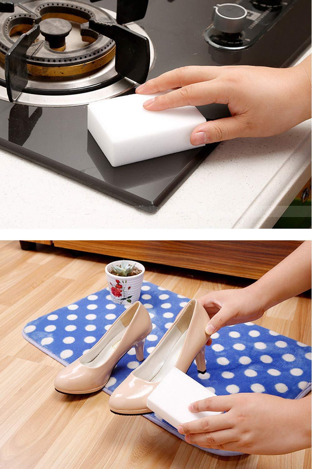 KNDDYY Magic Cleaning Sponge Magic Eraser Sponges Foam Cleaning Pad - Eraser Sponge for All Surface (40PC)